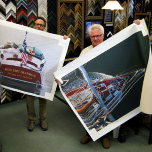 These photos were printed on Canvas so that when stretched, the edges also sport artwork.